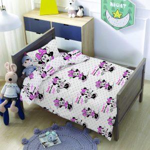 סט למיטת תינוק/מעבר מיני מאוס נקודות