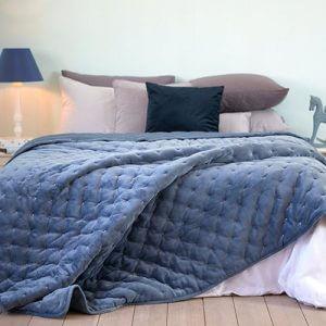 כיסוי מיטה/ שמיכה מדגם הולנד בצבע כחול