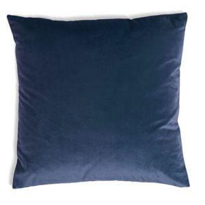 כרית נוי קטיפה בצבע כחול 65