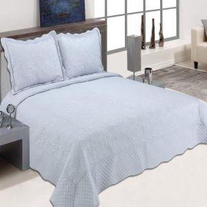 כיסוי מיטה מדגם דיאנה בצבע אפור