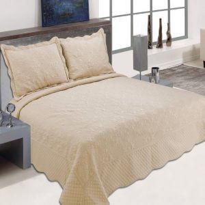 כיסוי מיטה מדגם דיאנה בצבע מוקה