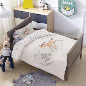 סט למיטת תינוק/מעבר במבי