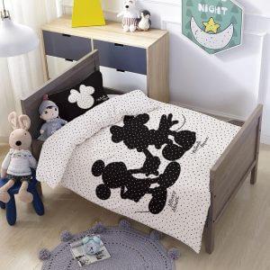 סט למיטת תינוק/מעבר מיקי ומיני סיפור אהבה