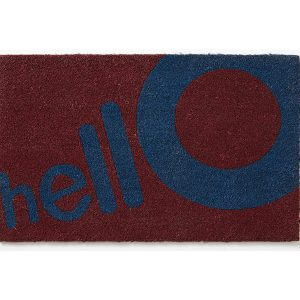 שטיחון סף מדגם HELLO בורדו
