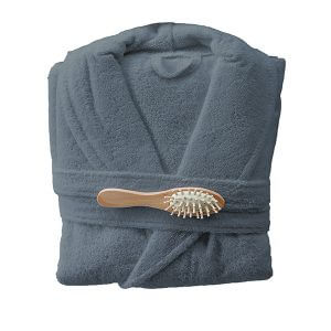 חלוק רחצה מגבת בצבע אפור