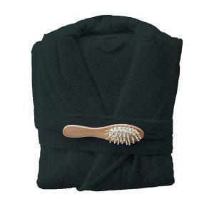 חלוק רחצה מגבת בצבע שחור