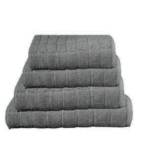 מגבת קוביות בצבע אפור כהה