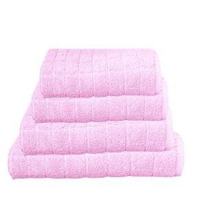 מגבת קוביות בצבע ורוד בייבי