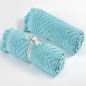 מגבת חוף לולה בצבע טורקיז