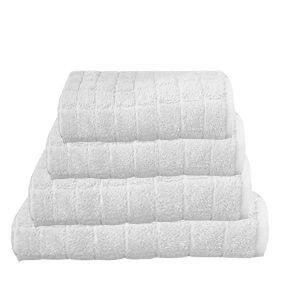 מגבת קוביות בצבע לבן