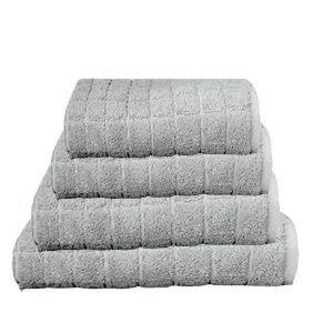 מגבת קוביות בצבע אפור בהיר