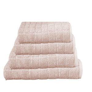 מגבת קוביות בצבע מוקה