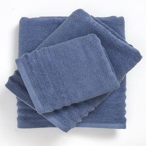 מגבות זירו בצבע כחול גינס