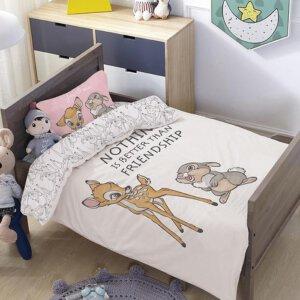 סט למיטת תינוק/מעבר במבי והארנב