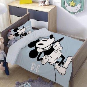 סט למיטת תינוק/מעבר מיקי תכלת